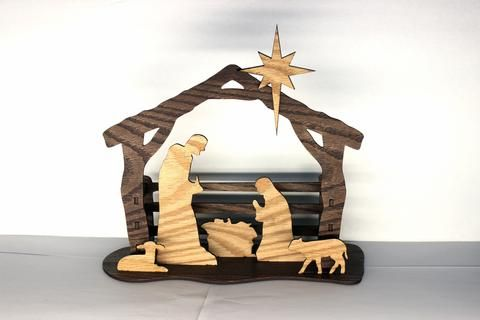 Silhouette Nativity- 3D Nativity Scene