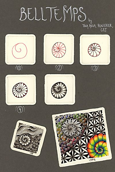 Zentangle® - Muster Belltemps - Tina Hunziker