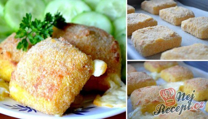 Výborný sýr v trojobale pečený v troubě - chutná jako smažený!