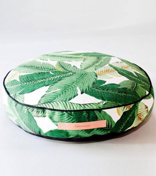Round Floor Pillow, floor cushion, ottoman, indoor/outdoor pillow in Tahiti
