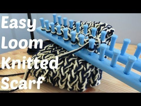 Easy Loom Knitted Scarf