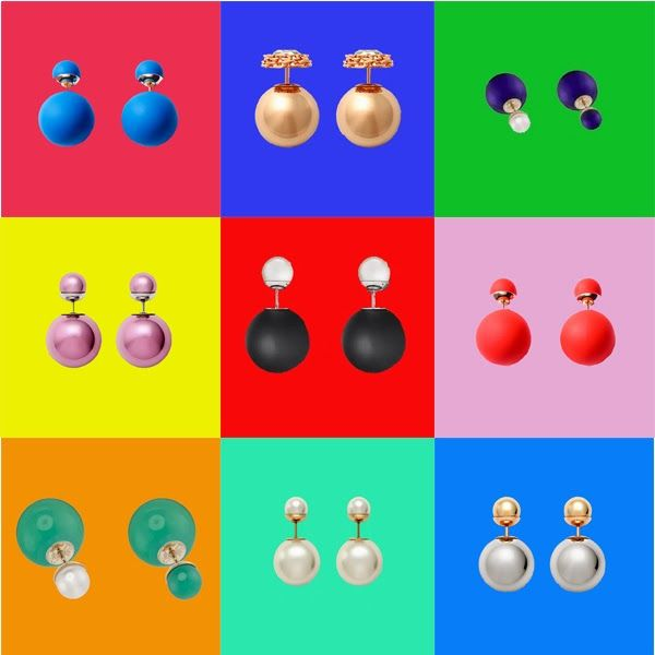 Dior Pop Art  Earrings Mise en Dior Tribal Colours Models
