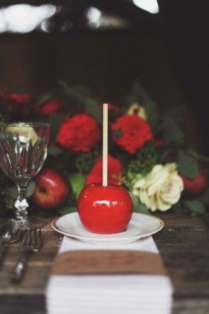candy apple place card