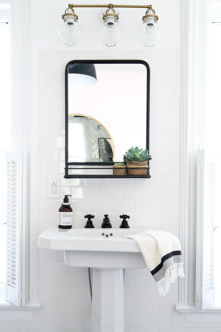 Wonderful How To Hang A Bathroom Mirror On Ceramic Tile