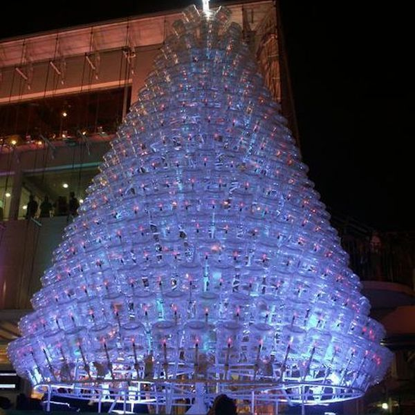 This Beautiful Christmas Tree Is Made Of Recylced Water