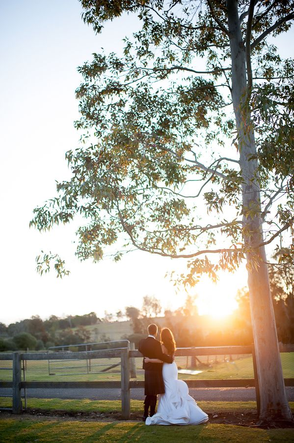 Sunset at Gledswood Homestead & Winery. Stunning country wedding venue, Sydney