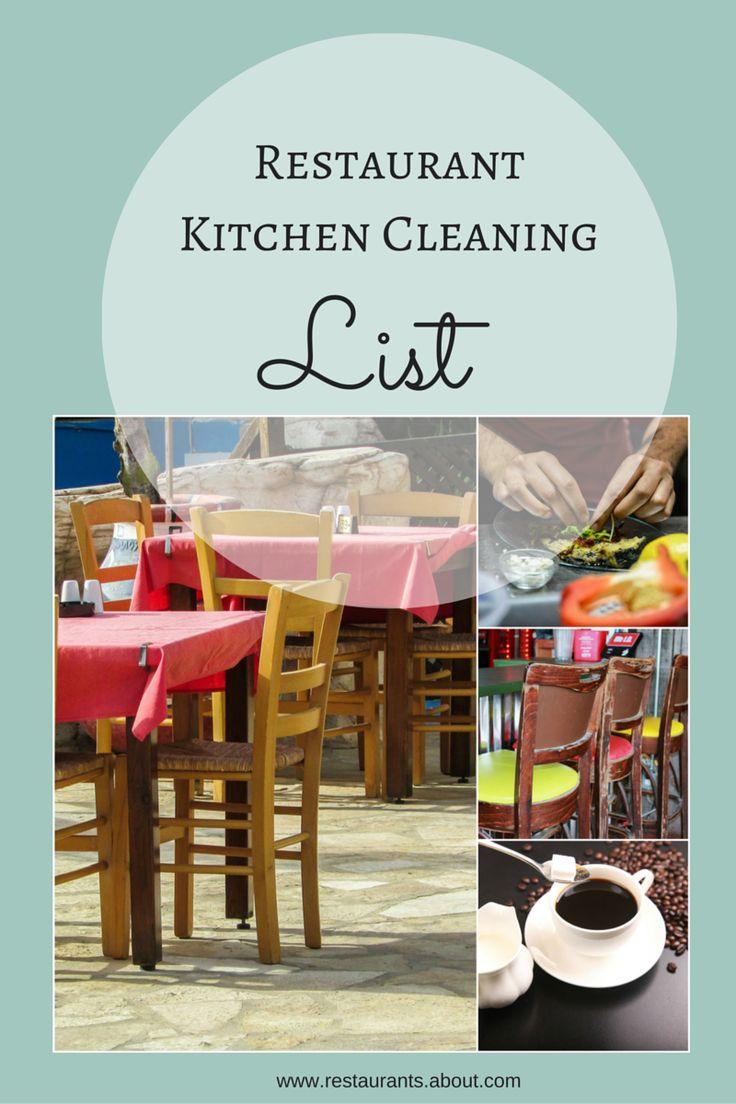 25 best ideas about restaurant kitchen on pinterest for Cleaning list for restaurant kitchens
