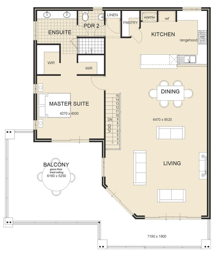 21 best reverse living house plans images on pinterest Reverse living home plans