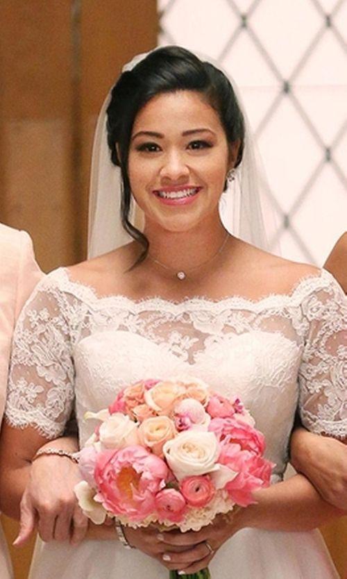 Aria 'Jennifer' Wedding Gown as seen on Jane Villanueva in Jane the Virgin | TheTake.com