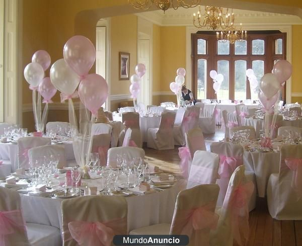 31 best images about bautizo isabella on pinterest for Decoracion con globos