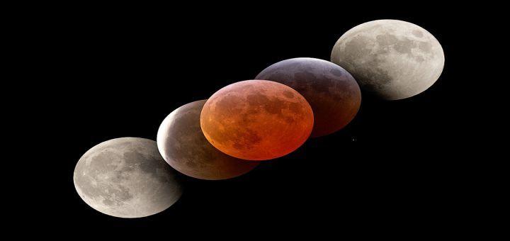 Bloedmaan bij maansverduistering