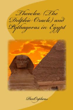 http://bit.ly/2ekiuKf -        Theoclea (The Delphic Oracle) and Pythagoras in Egypt by PanOrpheus   Set in a fictional Ancient Greece and Egypt, this book presents an 'alternate history' ca. 500 B.C. The book is filled with magic, and mystery, as Theoclea, the Oracle, Pythagoras, and others travel from the Temple of Delphi to the Pyramids and Cairo. While the others prepare to search for a rare book, Theoclea gives the speech of a lifetime, speaking from a platfo