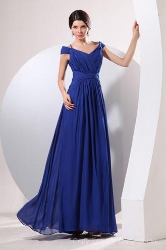 Zipper Elegant Empire Sheath/Column Portrait Long Formal Dresses