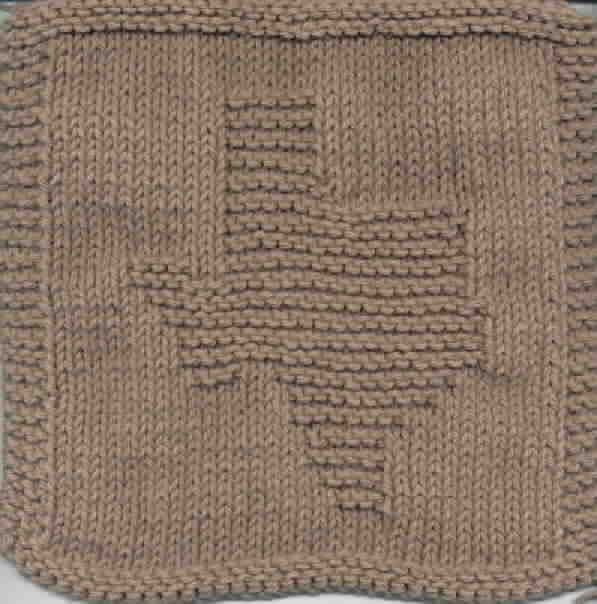 Knitted Dishcloth Pattern With Star : Knit a Texas Washcloth Knitted washcloths Pinterest I am, Dishcloth and...