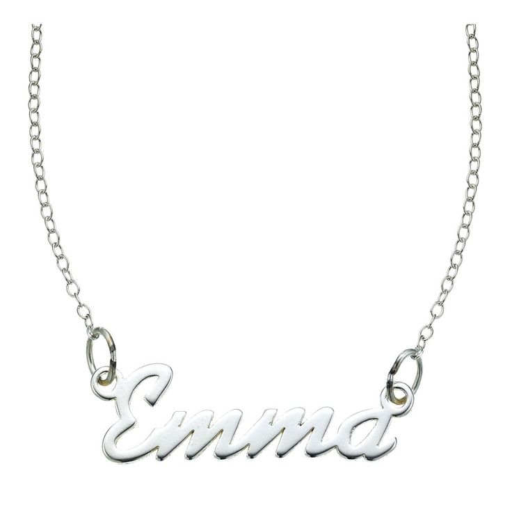 'Emma' Signature Sterling Silver Pendant