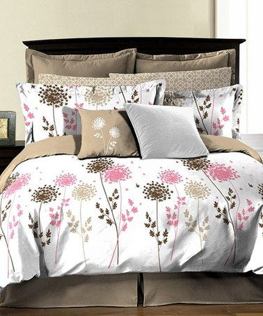 This Lauren Coral Comforter Set by Textile City is perfect! #zulilyfinds
