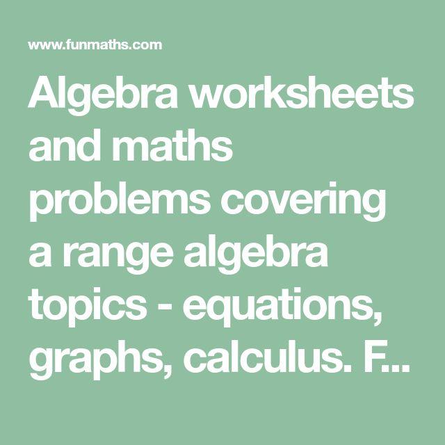 The 10 best Algebra Worksheets images on Pinterest   Algebra ...