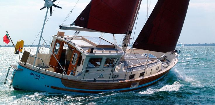 The Fisher 34 Over 100 Fisher 34's have been built since her introduction into the range in 1978. Built with all the virtues and traditional features of the original Fisher concept, the 34 has evolved in design over the years right up to the MK III which was introduced in 1995. The ketch rig