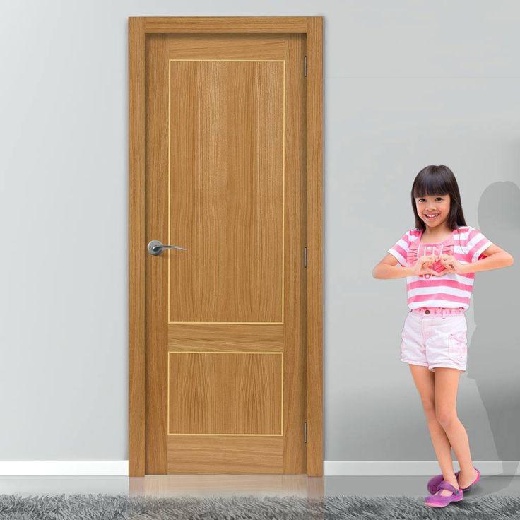JBK Roma Lucina Flush Door is Pre-Finished. #flushdoor #oakflushdoor #internalmoderndoor