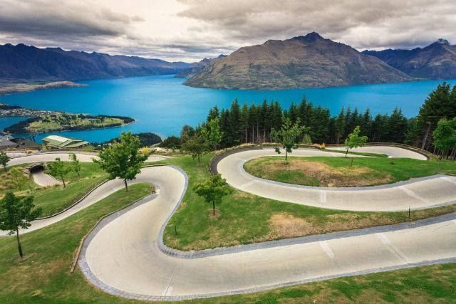 Luge track, Queenstown, New Zealnd