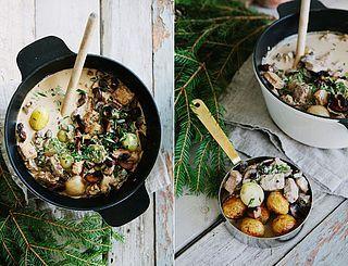 Gräddig Julgryta med Sojabitar, Rödvin & Färska Champinjoner :: Creamy Vegetarian Christmas Stew