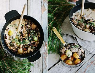 Gräddig Julgryta med Sojabitar, Rödvin & Färska Champinjoner :: Creamy Vegetarian Christmas Stew...English instructions included.
