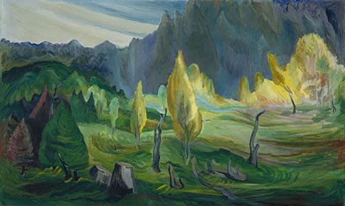 Clearing by Emily Carr, 1942. Oil on canvas | National Gallery of Canada