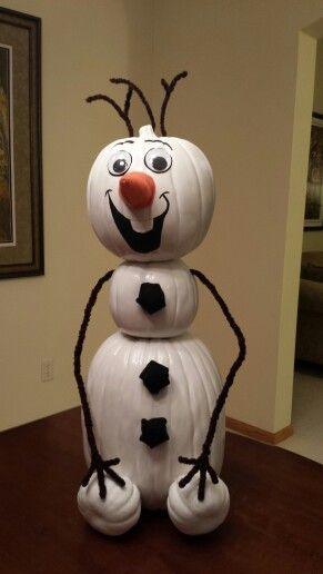 olaf the pumpkin snowman cute pumpkin idea frozen decorations halloween - Frozen Halloween Decorations