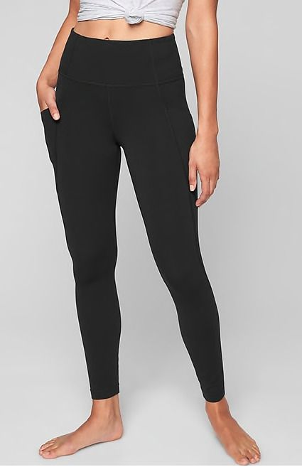 a3efc4fd8b276 NWT Athleta Salutation Stash Pocket Tight In Powervita Black Size S #198877  #fashion #