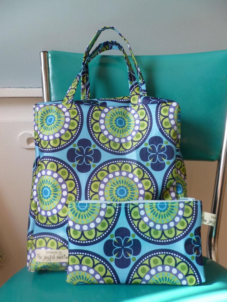 """Custom order 9"""" waterproof school bag and matching case."""