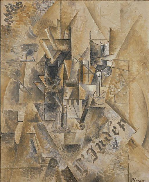 "Pablo Picasso, ""Naturaleza muerta con abanico"", 1911, Met, Nueva York"