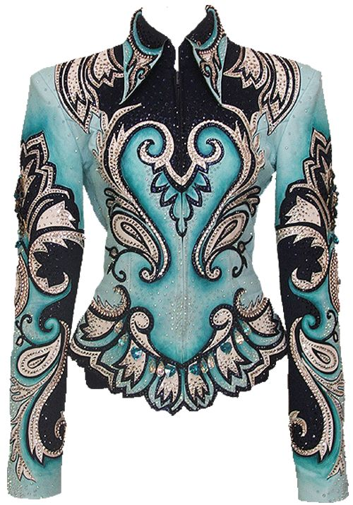 "... *jaw drop* This jacket is called ""Ocean Tide"" by Paula's Place. It's SO beautiful! It has so much detail. It happens to be just my size (: and 5 times out of my price range too >.<"