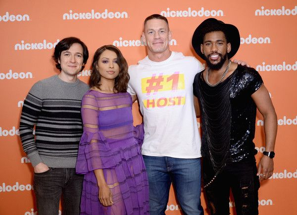 Kat Graham Photos - (L-R) Josh Brener, Kat Graham, John Cena and Brandon Mychal Smith attend the Nickelodeon Upfront 2018 at Palace Theatre on March 6, 2018 in New York City. - Kat Graham Photos - 10 of 2899