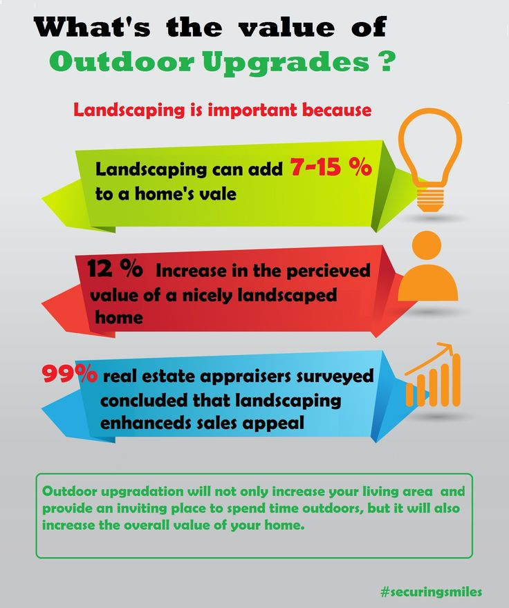 Upgrading #outdoor spaces can add value to your #home. here is how outdooor upgrades #landscaping add value to your #beautiful home.
