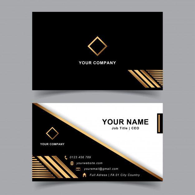 Editable Modern And Elegant Business Card Em 2020 Com Imagens