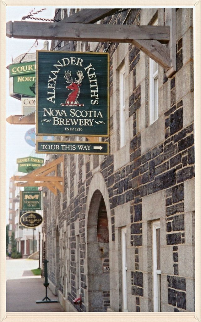 Entrance to the historic Keith's Brewery near the Halifax waterfront. There is a tour of the brewery.