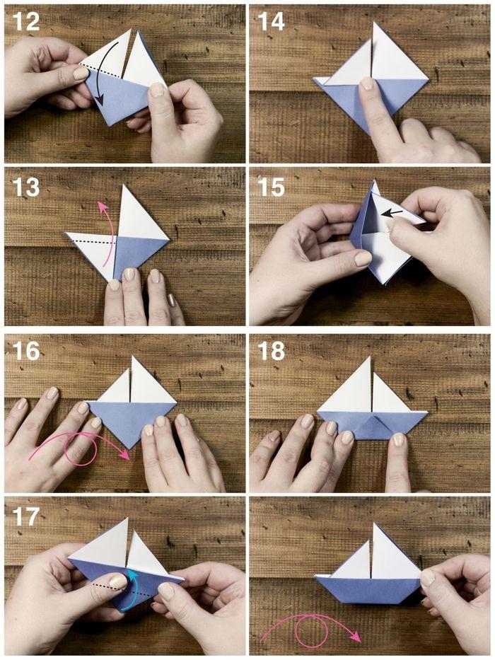 1001 Modeles D Origami Faciles Pour Apprendre Comment Faire Un Bateau En Papier Bateau Papier Origami Facile Origami Bateau
