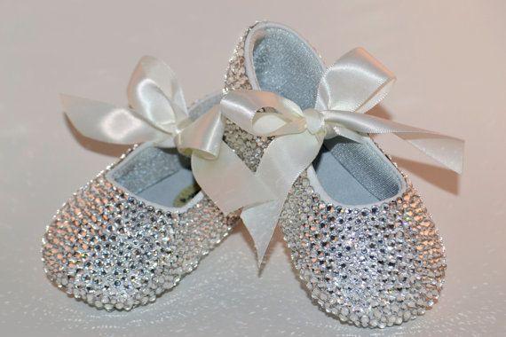 Pink Baby Rhinestone Shoes Swarovski Crystal by SweetTipToes