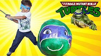 Tortugas Ninja Gigantes Sorpresa Huevo TMNT Juguetes con 34 Puntos de Articulación - YouTube