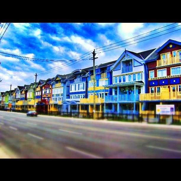 The series of colourful #houses in the #Beaches area of #Toronto