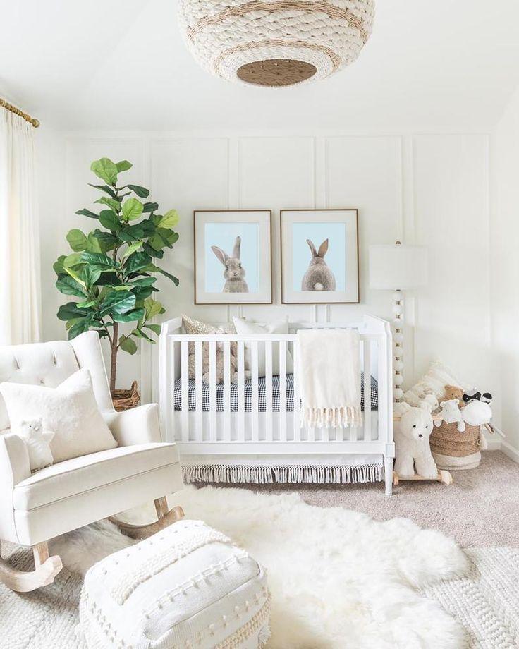 Bunny Rabbit Print Set – Décorations murales – chambre de bébé garçon Etsy   – Baby room