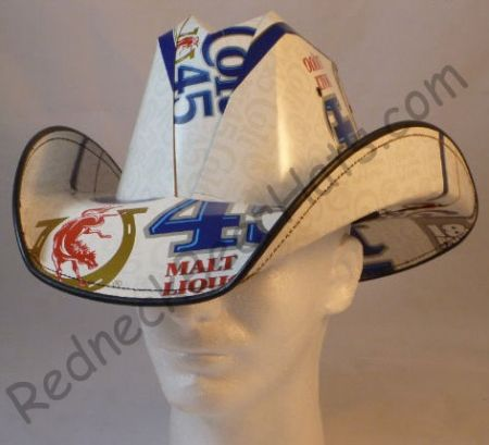 Beer Party Cowboy Hats made from recycled Colt 45 Beer Boxes Frat Nascar, Apparel & Accessories :: Clothing Accessories :: Hats :: Bullszi.com