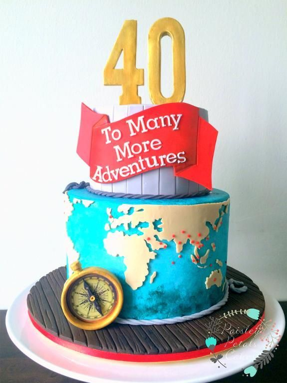 Cake Design Themes : 17 Best ideas about 40th Birthday Cakes on Pinterest ...