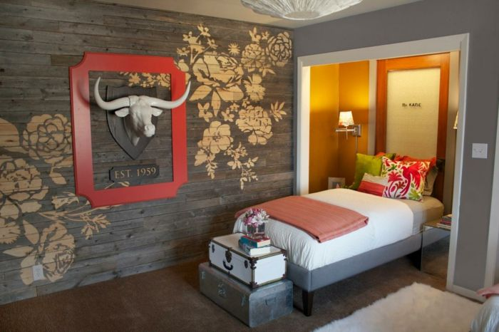 tapetenmuster geometrisch wandgestaltung wohnzimmer Pinterest - holzverkleidung innen modern