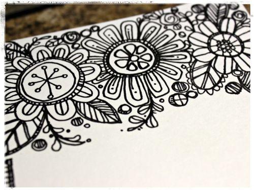 flower doodle inspiration | art journaling #doodle