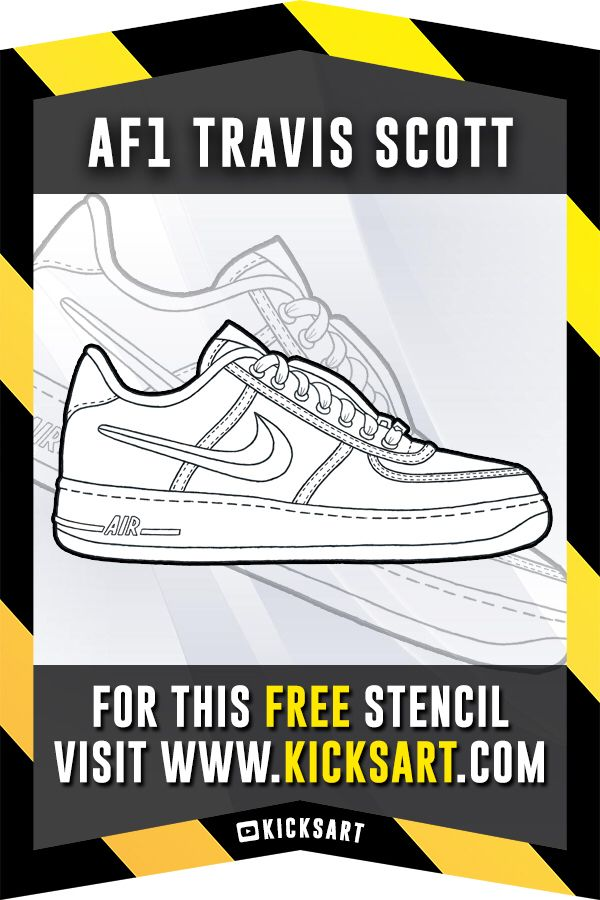 This is a FREE sneaker stenciltemplate of the Nike Air