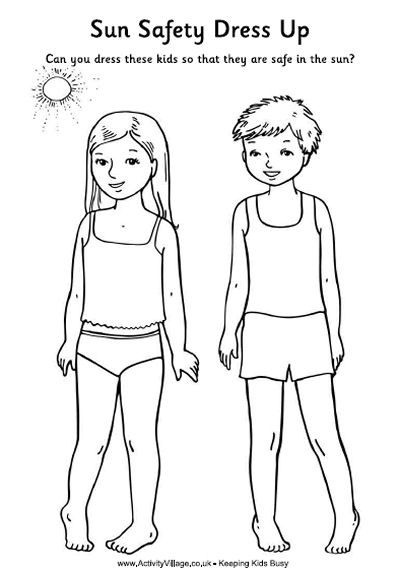 Sun safety activity sheet for the kids. Get them involved early so they avoid…