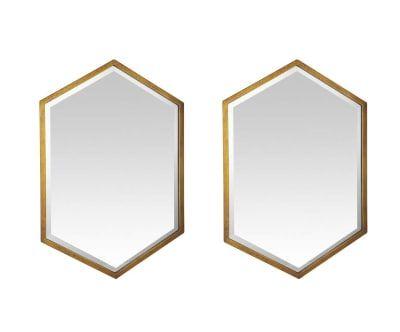 2 Miroirs AIDA, doré - 60*90