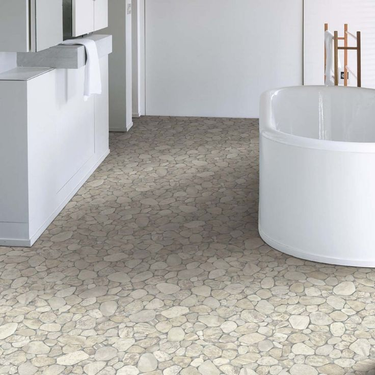 this white and brown hue stoneeffect vinyl sheet flooring will give an elegant