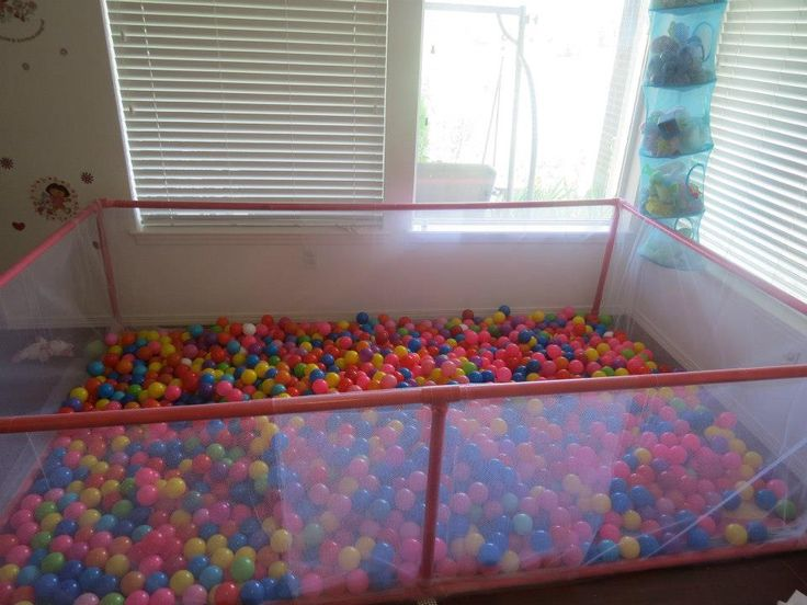1000 images about daycare garage conversion ideas on - Bed made of balls ...